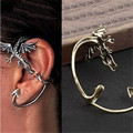 Ocean Jewelry Fashion Gothic Dragon Ear Cuff Earring 2 Colors Popular Gothic Punk Style Domineering Personality Dragon Earring