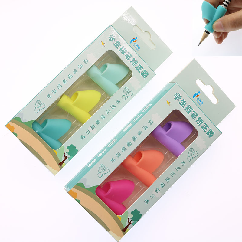 Children Learn Writing Posture Tools Hold Pen Correction Stationery Set Education Gifts School Office Supplies 3pcs / Box