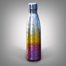Tikungfu Titanium Thermos Vacuum Bottle Flask 500 ml Outdoor Travel Fashion Portable Coke Cup Frost Rainbow