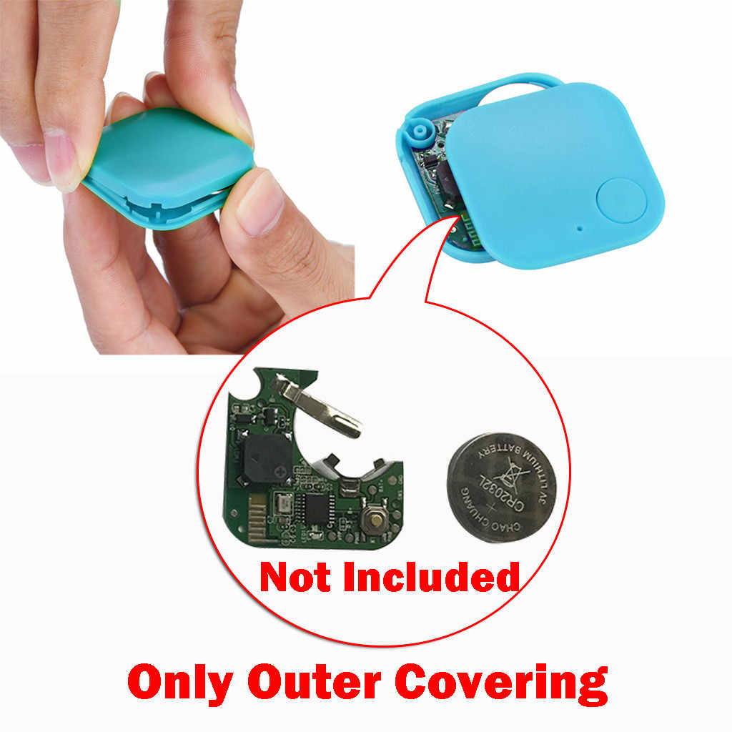 Mobil Motor Smart Mini Bluetooth GPS Tracker Kids Pets Dompet Kunci Alarm Locator Realtime Finder Perangkat Hanya Luar Shell Cover