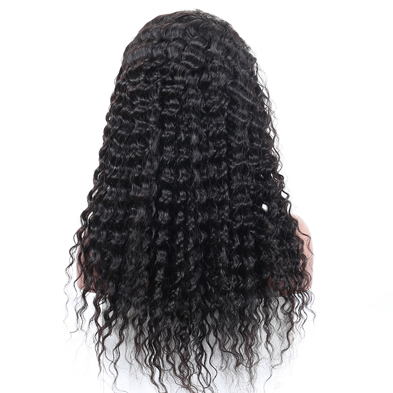 Silk Base Full Lace Human Hair Wigs For Women Loose Curly Pre Plucked With Baby Hair Natural Black Brazilian Silk Top CARA