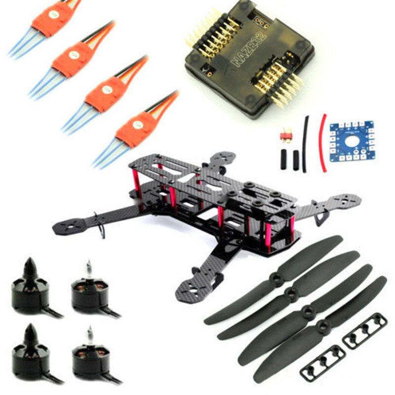 MINI 250 Quadcopter QAV250 1806 2280KV Motor 12A ESC NAZE32 10DOF Flight Controller 5030 Propeller Multicopter FPV Combo 21 inch students scooter suitcase boy cool trolley case 3d extrusion high quality pc separable travel luggage child boarding box