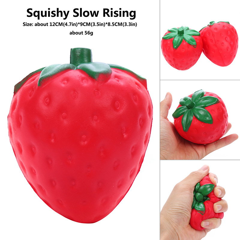 Slow Rising Squishy Big Strawberry Giant Squishy Toys Decompression Toys Adult Reduce Pressure Free Shipping Christmas Presents