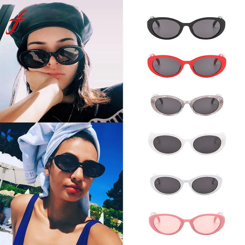 Feitong Sunglasses Hot Sale 2018 Fashion Womens Retro Vintage Unisex Rapper Oval Shades Grunge Glasses Eyewear Gafas #a30