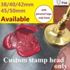 Customize Wax Stamp With Your Logo New Big SizeStamp Head DIY Ancient Seal Retro Stamp Personalized