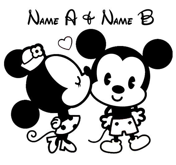 Aliexpresscom  Buy Custom Made MINNIE MOUSE PERSONALIZED LOVE - Stickers for cars custom made