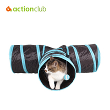 New 2016 High Quality Nylon Cats Tunnel Toys Home Folding Training Tunnel Cats Toys Brand Design jouet pour chat ACTIONCLUB