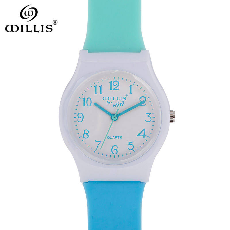 WILLIS Brand Jelly Candy Watch Clock Woman Waterproof 50M Outdoor Sports Watch Women Simple Small Bracelet Hand Wrist Hour Gift