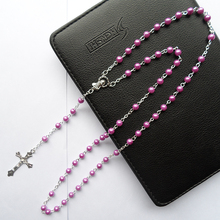 Charm Women Dark purple noble charming Pearl religion Jesus silver cross Pendant Necklaces jewelry gift noble 2 minute charming smile trainer