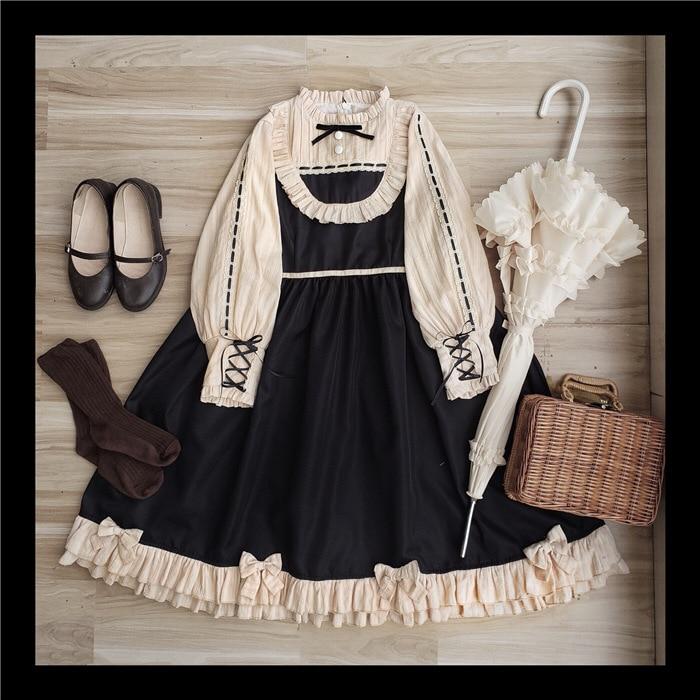 Schuvre ~ robe Lolita à manches longues Vintage royale robe de soirée à manches lanterne-in Robes from Mode Femme et Accessoires    1
