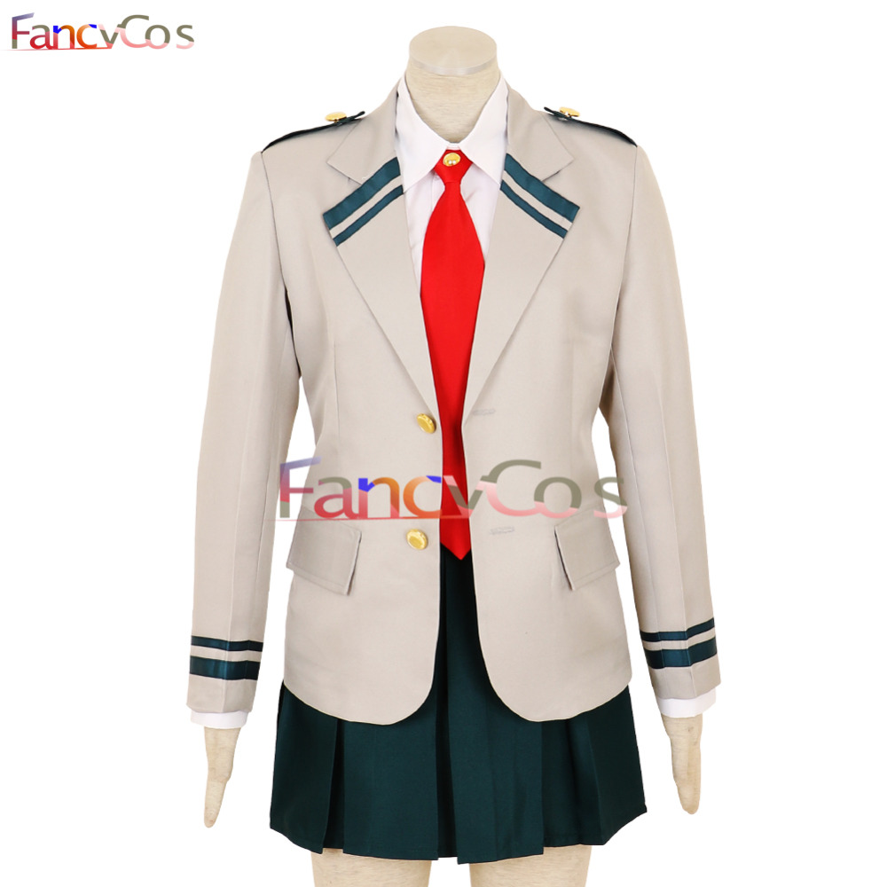 Halloween My Hero Academia Uniform Ochako Uraraka Dress Yuga Aoyama Skirt U.A. High School Uniform Cosplay Costume Game Deluxe