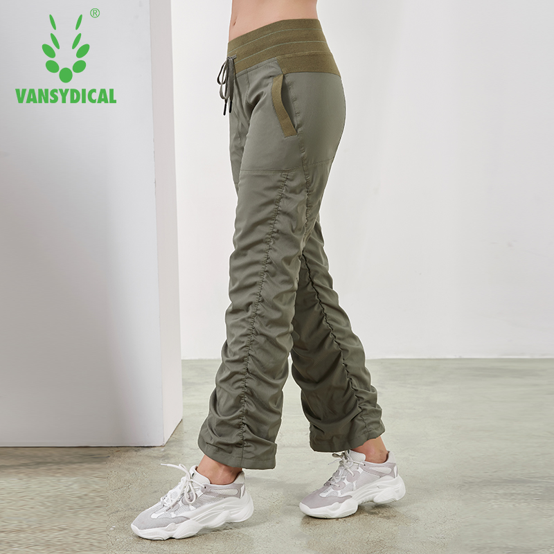 2019 Sports Running Yoga Pants Women's Slim Fold Gym Sweatpants Autumn Winter Outdoor Fitness Workout Jogging Trousers