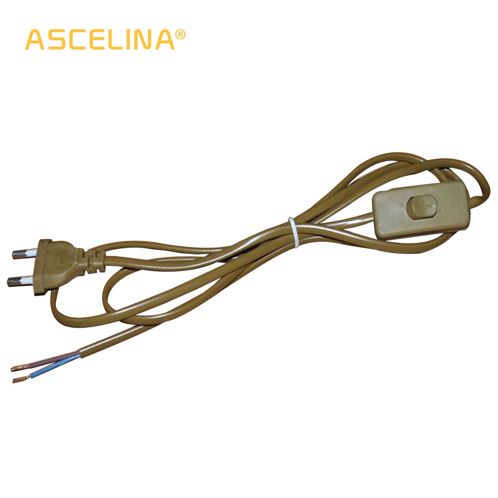 Lamp Wire 18m Black White Clear Olive Green Power Cord With Dimmer How To A Light Switch From Plug 1x On Line Cable Off For Led