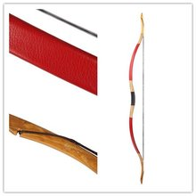 Traditional Archery Traditional hunting Longbow 20-60LBS Nice Red Leather Bow Recurve Bow H4