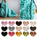 DIY Line Crocheting Soft Knitting Chunky Wool Roving Yarn Arm Knitting Felting 250G Colorful Yarn Winter Warm Hat Scarf Knitting