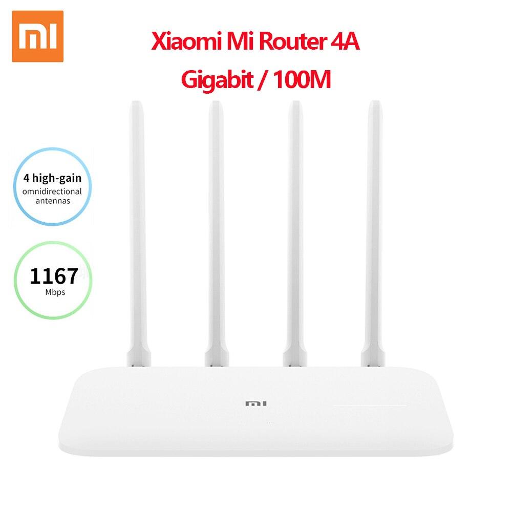 Routeur d'origine Xiao mi mi 4A Gigabit édition 100M 1000M 2.4GHz 5GHz WiFi ROM 16 mo DDR3 64 mo 128 mo 4 antennes télécommande APP
