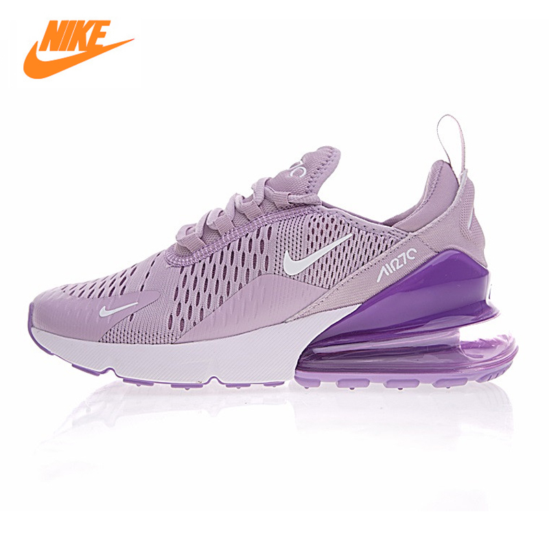 Nike Air Max 270 Womens Running Shoes ,Purple White, Shock Absorption Non-slip Breathabl ...