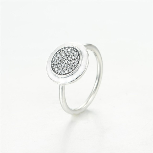 Fashion Silver Jewelry  Sterling Silver Round Rings With CZ Stones DIY Fine Jewerly For Women Wholesale