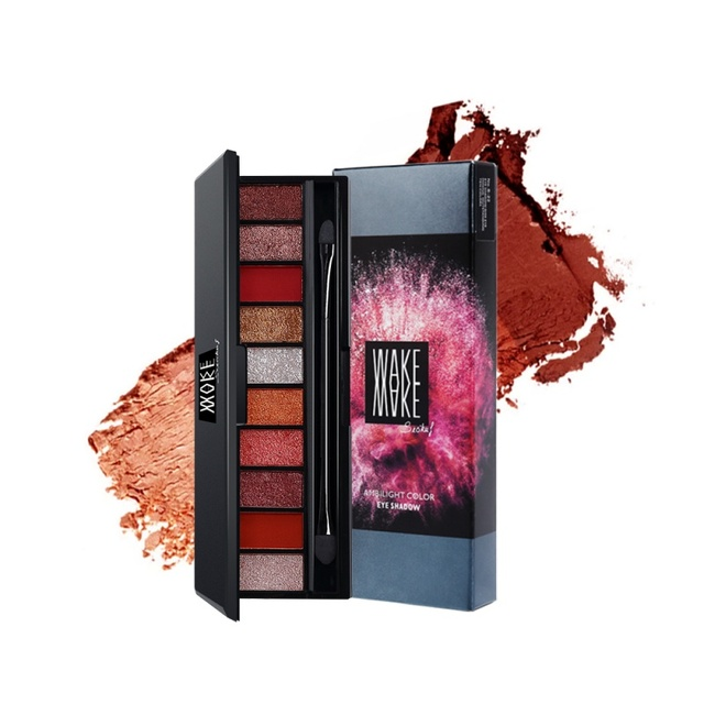 10 colores brillo paleta de sombra de ojos mate brillo sombra de ojos en polvo maquillaje cosméticos paleta de larga duración