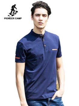 Pioneer Camp 2019 new summer mens t shirts dark blue mandarin collar t shirt men casual short sleeve t-shirts fitness 620028 - DISCOUNT ITEM  50% OFF All Category
