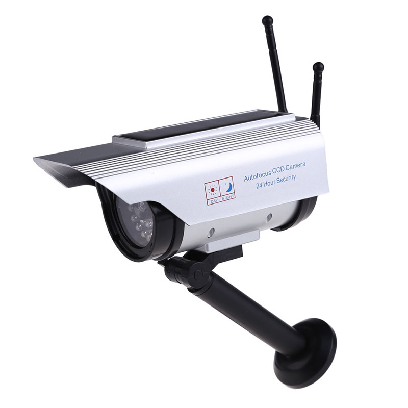 Hot Sale Video Surveillance Simulation kamera Solar Power Indoor Outdoor Home Security CCTV Fake Camera with Flashing LED Light hot sale abs led simulation fake dummy dome camera home safely security surveillance cameras white hot sale