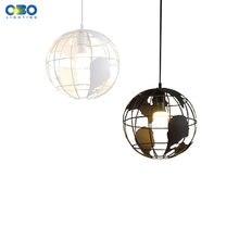 Винтажная Подвесная лампа железный креативный глобус домашний