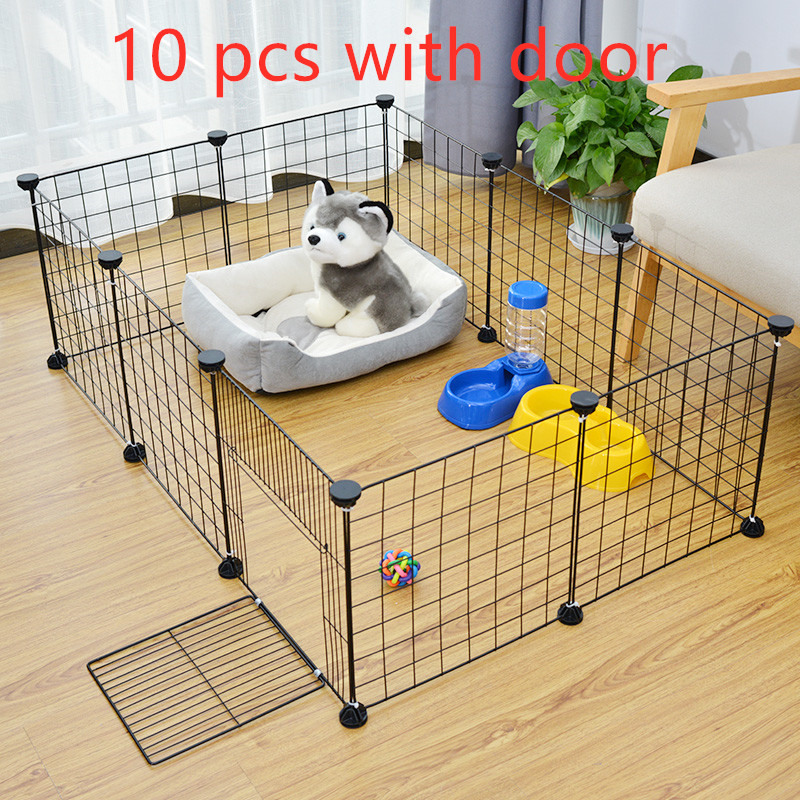 Foldable Pet Playpen Crate  Iron Fence Puppy Kennel House Exercise Training Puppy Kitten Space Dog Gate Supplies For Rabbit klatka wybieg dla królika
