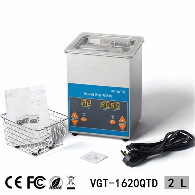 50W 2L Industrial Digital Ultrasonic Cleaner for Filter Injector Cleaning and Auto Parts Cleaning + Adaptor 220V AU Plug jiekangps 08a 1 3l digital ultrasonic cleaner for filter injector cleaning and auto parts jewelry glasses circuit board cleaning
