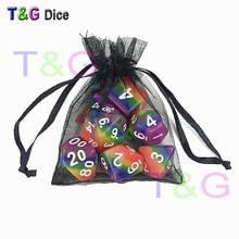 7 шт./компл. радужные игральные кости, d4 d6 d8 d10 d12 d20 Подземелья и Драконы ролевые игры игрушки подарки для игры в шахматы