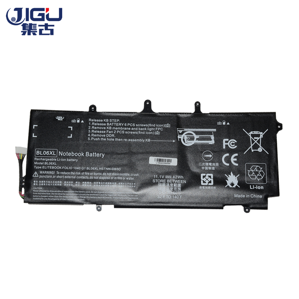 JIGU 3CELLS Laptop Battery BL06042XL BL06XL HSTNN-DB5D IB5D W02C For HPFor EliteBook Folio 1040 G0 G1 G2 F2R72UT L7Z22PA L9S82PA jigu laptop battery bl06042xl bl06xl hstnn db5d hstnn ib5d hstnn w02c for hp for elitebook folio 1040 g0 g1 l7z22pa