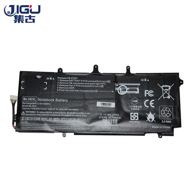 JIGU 3CELLS Laptop Battery BL06042XL BL06XL HSTNN DB5D IB5D W02C For HPFor EliteBook Folio 1040 G0 G1 G2 F2R72UT L7Z22PA L9S82PA