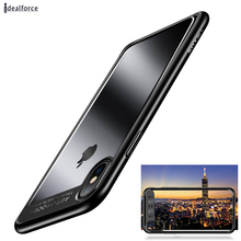 2018 Slim для IPhone X чехол Полный защитная TPU + PC акрил прозрачная задняя крышка для I 10 Чехлы для X В виде ракушки предотвращения падения