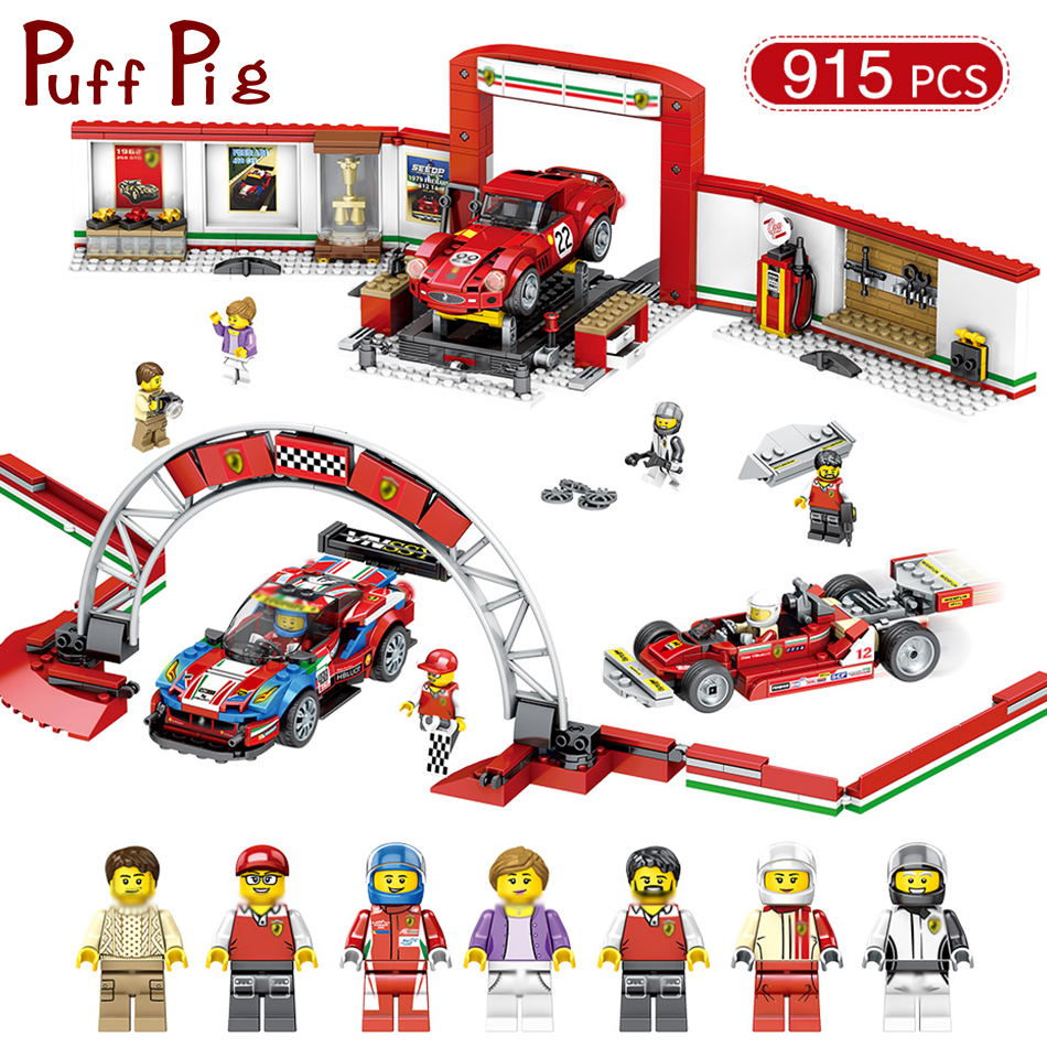 915pcs Speed Champion Series City Racing Cars Arena Racer Figures Building Blocks Compatible Legoed Technic Parts Toys For Kids gti champion racer