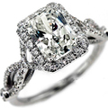 Queen Brilliance 1.1 Carat  Radiant Cut Engagement Wedding Moisssanite Ring Genuine 14K 585 White Gold Test Positive Diamond