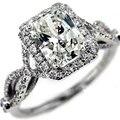 Queen brilliance 1.1 carat corte radiante moisssanite de compromiso de boda anillo de diamante genuino 14 k 585 oro blanco positivo