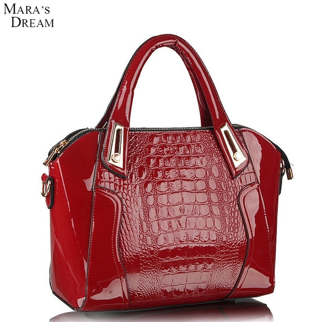 Mara's Dream Women Handbags & Shoulder Bags Alligator PU Leather Big Capacity Lady Shoulder Totes Messenger Satchels Bag