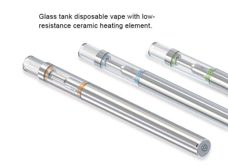 100pcs/lots min vape pen BUD D1 Disposable Electronic Cigarette Ceramic  Coil 0 5ml Glass Tank vaporizer pen Smoke Pipe CBD vape