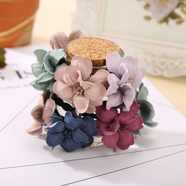 Elastic Hair Ring Flower Hair Rubber bands Rope Cloth Headbands Ties Hair Accessories for Women & Girls 2
