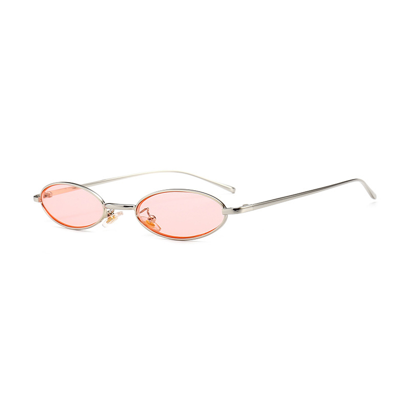 1bcce6d71c Vintage Small Oval Sunglasses Women Retro Brand Skinny Metal Frame Summer  Sunnies Men Sun Glasses Red Gold Yellow Lens Eyewear-in Sunglasses from  Apparel ...