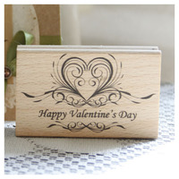 Happy Valentine S Date Rubber Wooden Stamps For Scrapbooking Carimbo Postcard Or Bookmark Scrapbooking Stamp 8