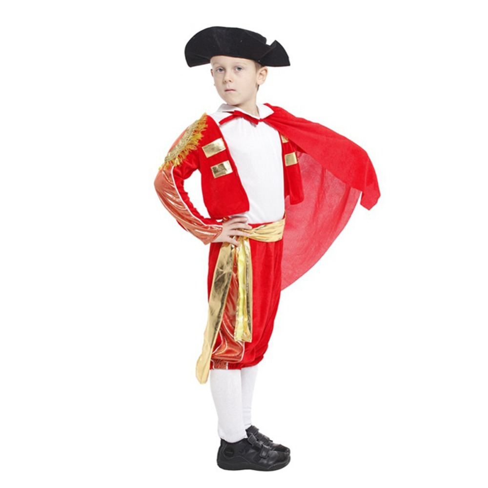 6PCS Halloween Kids Costumes Matador Costume Stage Performance Clothing