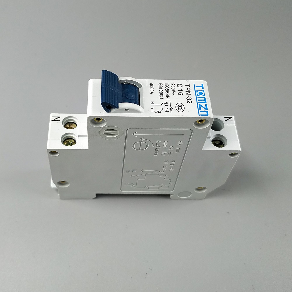 Tpn 1p N Mini Circuit Breaker Mcb 10a16a20a25a32a In Electronics Miniature Is A Device Designed To Breakers From Home Improvement On Alibaba Group