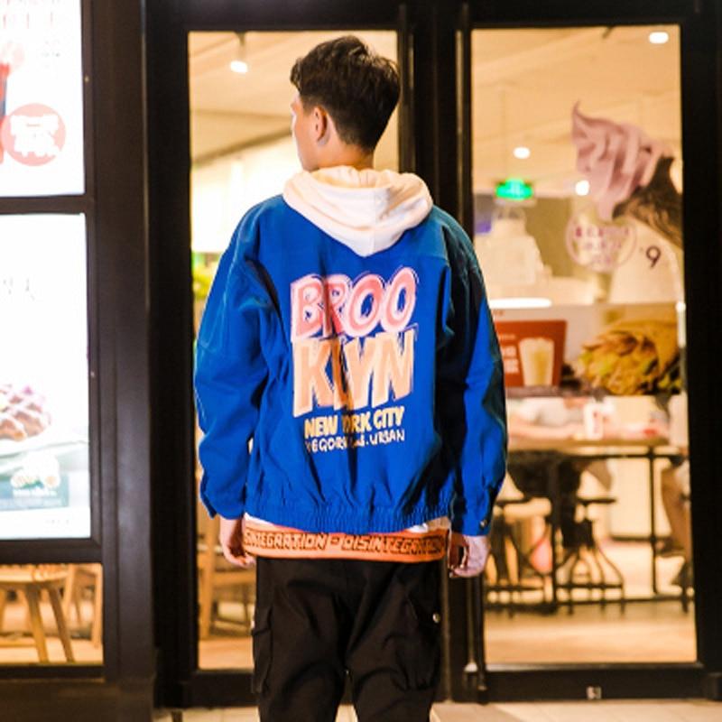 Chaqueta Vaquero Abrigo White black Graffiti blue hombres Denim Hombre Hombre Pintura Outwear De Streetwear Impreso Hfnf Para fwS0q1X