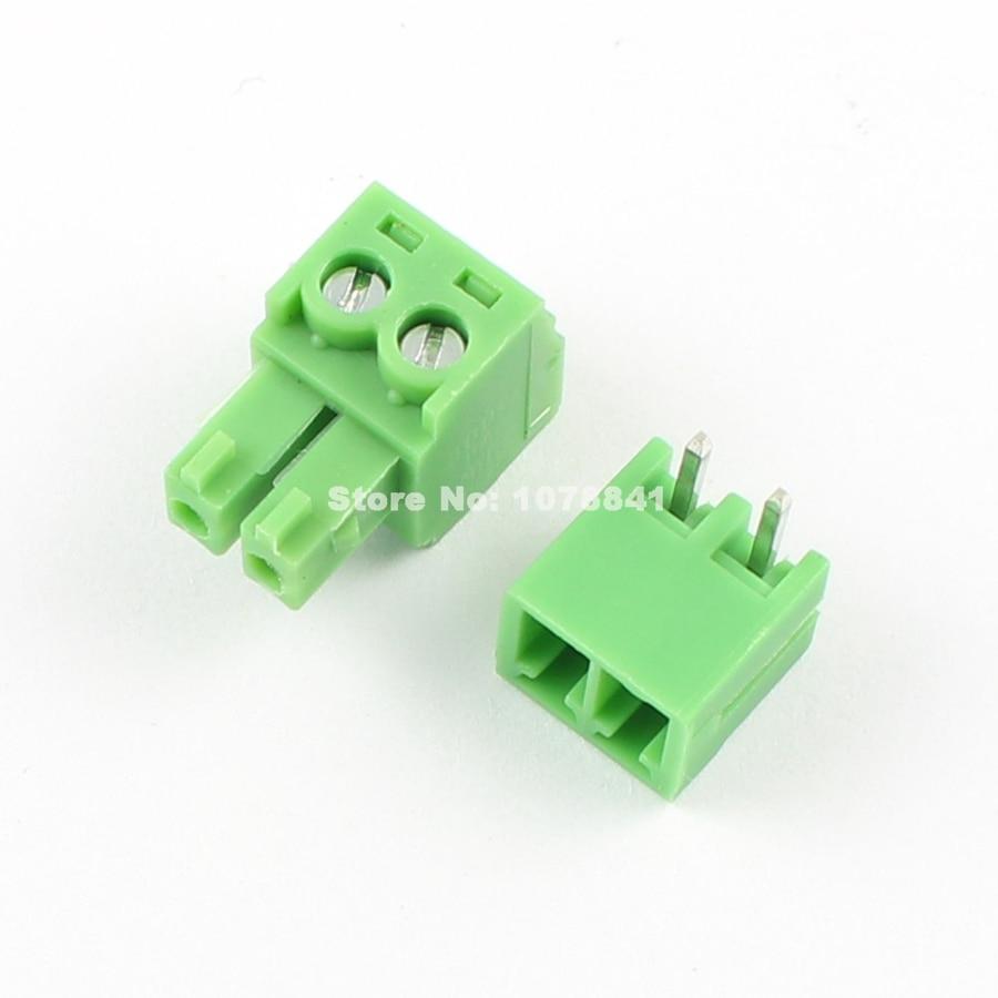 6 Pin Terminal Block Škoda 1j0973713: 20 Pcs Per Lot 3.81mm Pitch 2 Pin Right Angle Screw