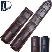 Pesno Crocodile Leather Watch Accessories Genuine Leather Watch Band Men Watchstrap Suitable for Ballon Blanc De