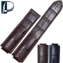 Pesno Crocodile Leather Watch Accessories Genuine Leather Watch Band Men Watchstrap Suitable for Ballon Blanc De Cartier