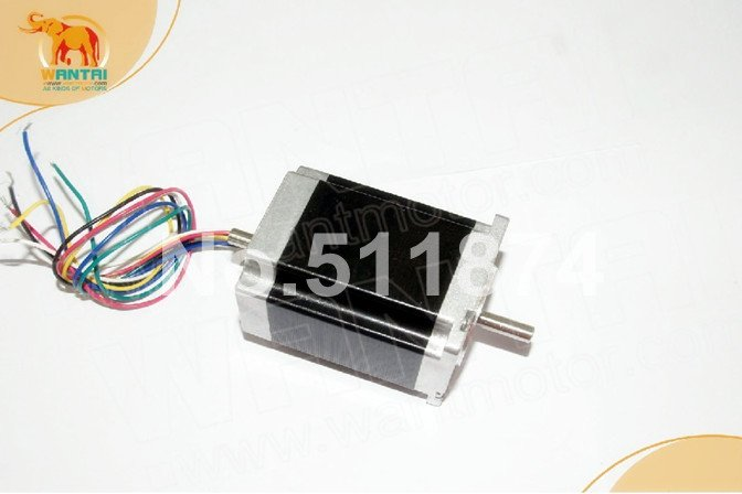 Hot Motor! Wantai Nema23 stepper motor dual shaft 57BYGH633B 270oz-in 78mm 3A CE ROHS ISO US CA FR IT DE BE JP Free high quality 4pcs wantmotor nema34 stepper motor 85bygh450c 012 single shaft 1600oz 3 5a ce rohs iso us uk ca jp de fr it free