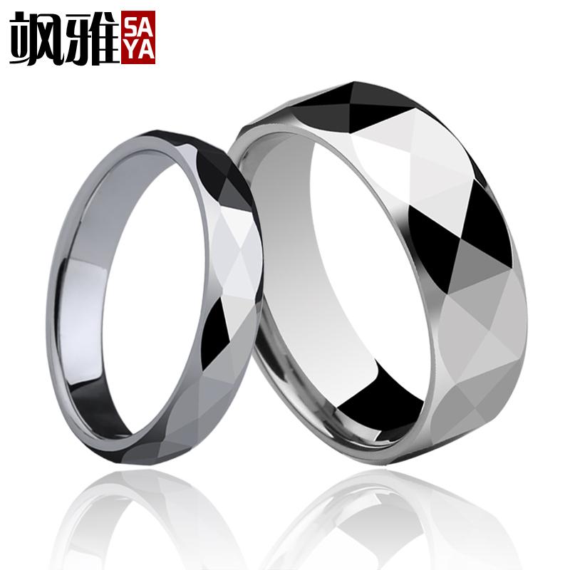 envo gratis grabado prisma diseo joyera de los pares anillos de carburo de tungsteno de la