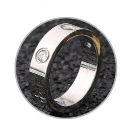 Розовое золото, кольцо из нержавеющей стали с кристаллом для женщин, ювелирные кольца для мужчин, обручальные кольца для женщин, подарки для помолвки - Цвет основного камня: silver crystal