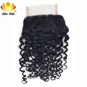 Image 2 - Aliafee Hair Kinky Curly Hair Bundles With Closure Non Remy Hair Weave Malaysia Kinky Curly 3 Bundles Deal With Closure